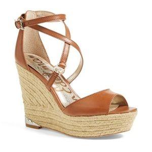 Sam Edelman Turner Espadrille Wedge Sandals 7 1/2